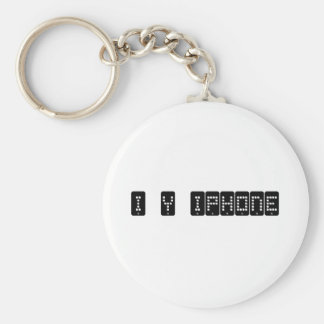 i heart iphone basic round button keychain