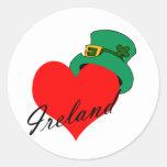 I Heart Ireland Classic Round Sticker