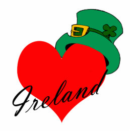 I Heart Ireland Cutout