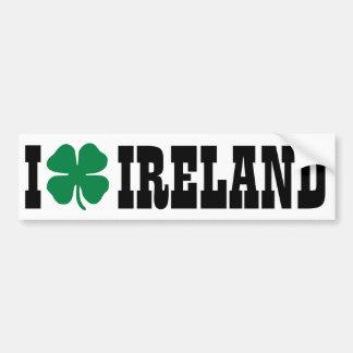 I [heart] Ireland - Shamrock Bumper Sticker