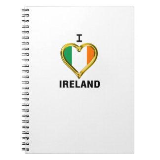 I HEART IRELAND SPIRAL NOTEBOOK
