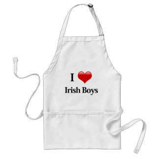 I Heart Irish Boys Adult Apron