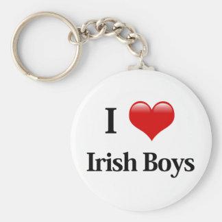 I Heart Irish Boys Basic Round Button Keychain