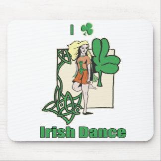 I heart Irish Dance Clover Mouse Pad