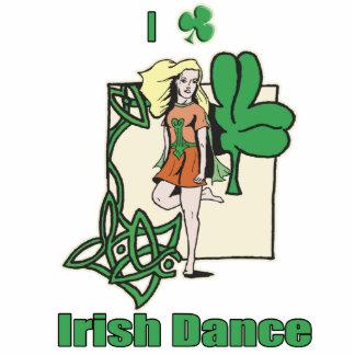 I heart Irish Dance Clover Photo Cutout