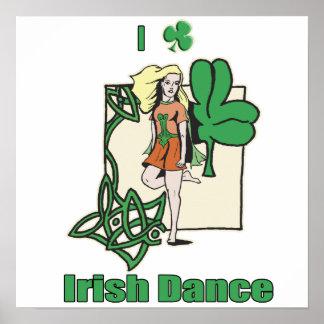 I heart Irish Dance Clover Poster