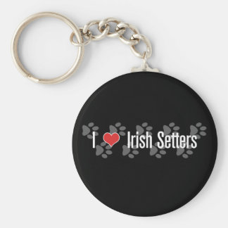 I (heart) Irish Setters Basic Round Button Keychain