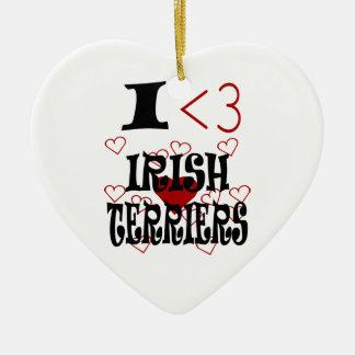 I Heart Irish Terriers Christmas Ornament