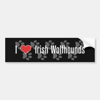 I (heart) Irish Wolfhounds Car Bumper Sticker