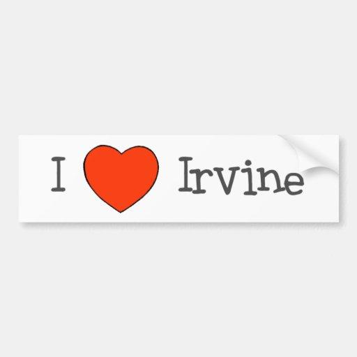 I Heart Irvine Bumper Stickers