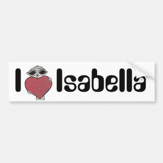 I Heart Isabella Alien Bumper Sticker