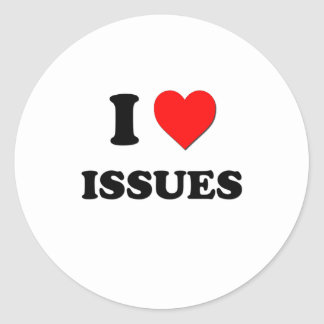 I Heart Issues Sticker
