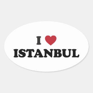 I Heart Istanbul Turkey Oval Sticker