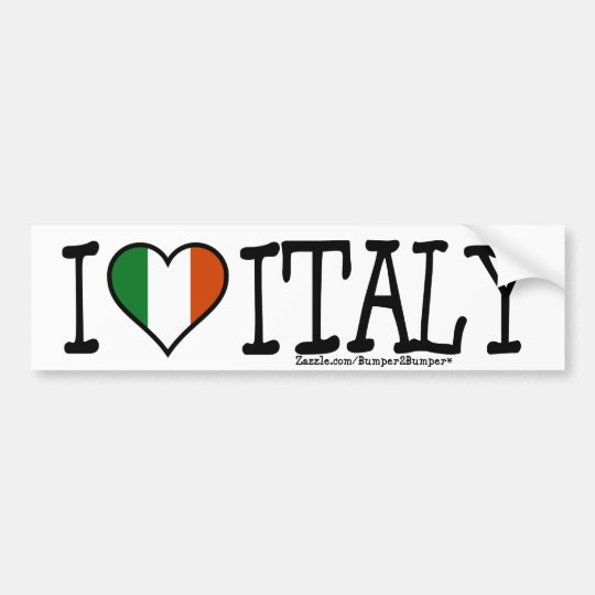 I HEART ITALY BUMPER STICKER