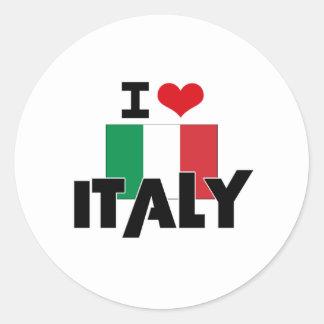 I HEART ITALY ROUND STICKER