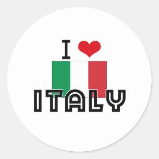 I HEART ITALY STICKERS