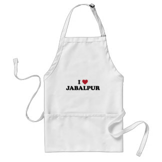 I Heart Jabalpur India Adult Apron