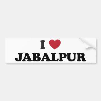 I Heart Jabalpur India Bumper Sticker