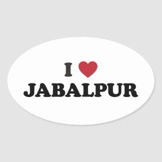 I Heart Jabalpur India Oval Sticker