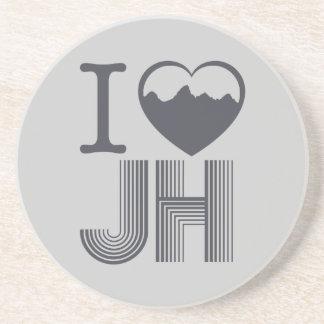 I heart Jackson Hole Sandstone Coaster