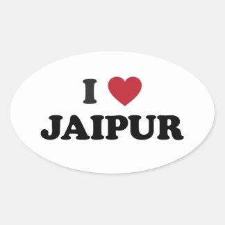 I Heart Jaipur India Oval Sticker