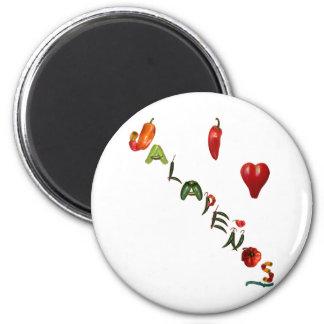 I Heart Jalapenos 2 Inch Round Magnet