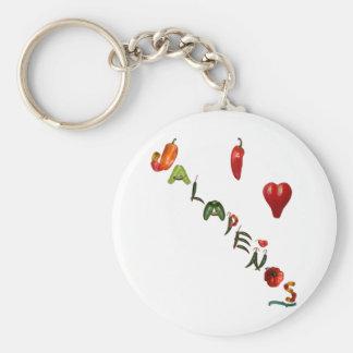 I Heart Jalapenos Keychain