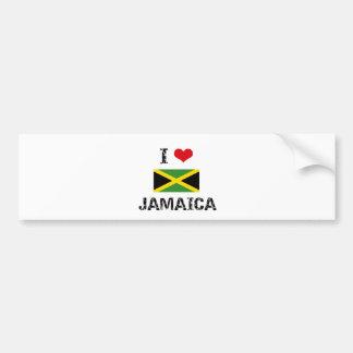 I HEART JAMAICA BUMPER STICKERS