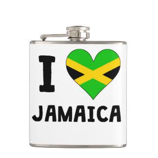 I Heart Jamaica Flask