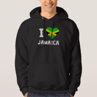 I Heart Jamaica Hoodies