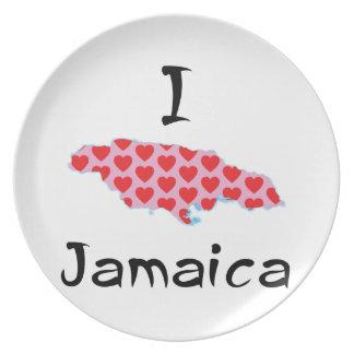 I heart Jamaica Melamine Plate