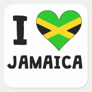 I Heart Jamaica Square Sticker