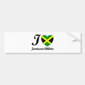 I HEART JAMAICAN DEASIGNS BUMPER STICKER