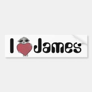 I Heart James Alien Bumper Sticker