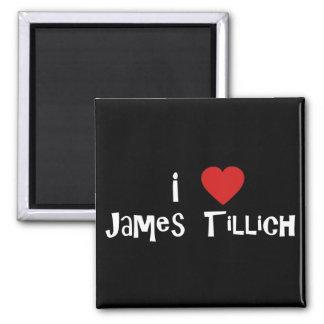 I Heart James Tillich 2 Inch Square Magnet