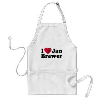 I Heart Jan Brewer Adult Apron