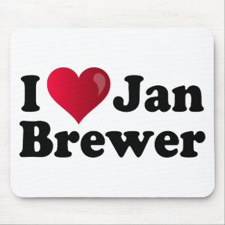 I Heart Jan Brewer Mouse Pad