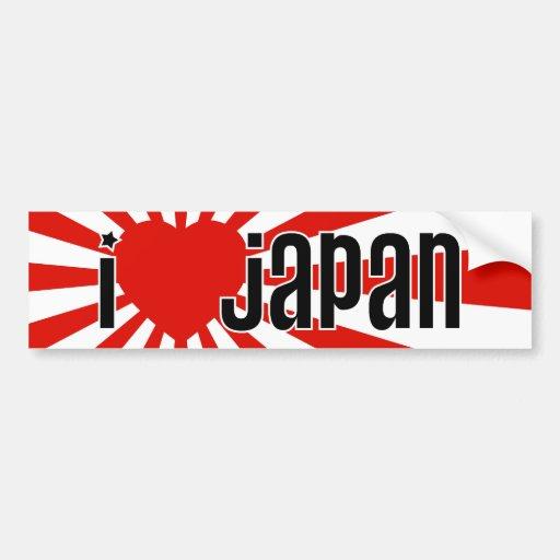 I Heart Japan! Car Bumper Sticker