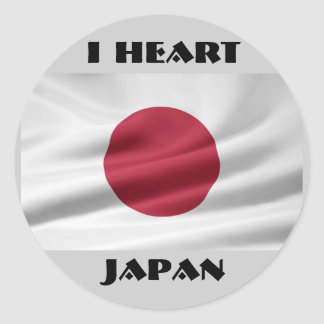 I Heart Japan/Flag of Japan Classic Round Sticker