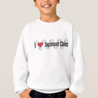 I (heart) Japanese Chins Sweatshirt