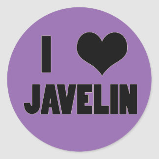 I Heart Javelin, Javelin Throw Stickers