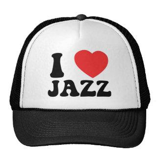 I Heart Jazz clothing Trucker Hats