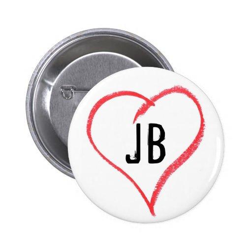 I Heart JB Pinback Button