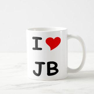 I HEART JB COFFEE MUG