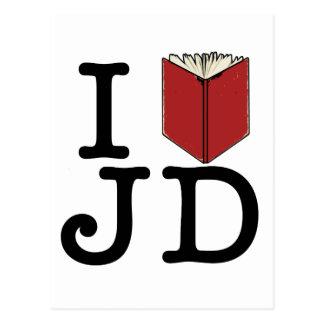 I Heart JD Postcard