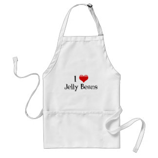 I Heart Jelly Beans Adult Apron