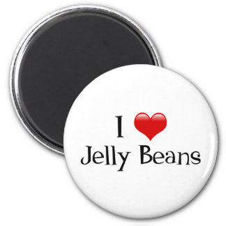 I Heart Jelly Beans 2 Inch Round Magnet