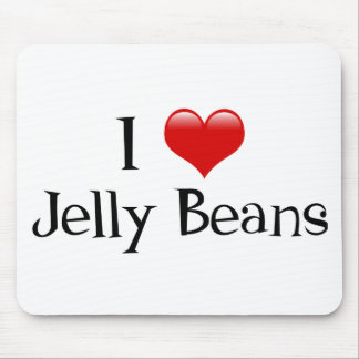 I Heart Jelly Beans Mouse Pad