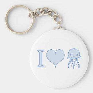 I Heart Jellyfish Keychain