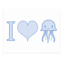 I Heart Jellyfish Postcard